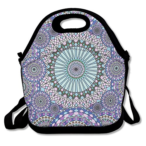 Food Storage Bag Zipper Bags Paisley Pattern Lunch Bag Tote Backpack For Adult Or Children