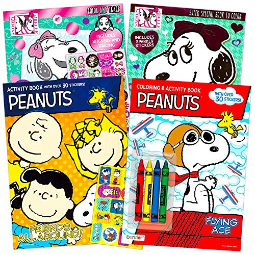 Peanuts Coloring and Activity Book Set -- 4 Coloring Books Featuring Snoopy, Charlie Brown and The Peanuts Gang (Peanuts Party Supplies)