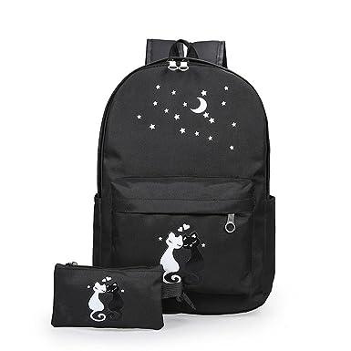 Amazoncom Cute Girls Backpack High School Canvas Bag Campus Tide