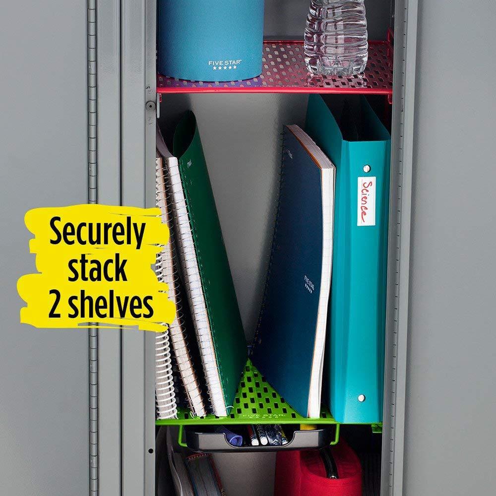Holds up to 100 Lbs 38232 Fits 12 Width Lockers Locker Shelf and Locker Drawer Five Star Locker Organizer Lime Extra Tall 14