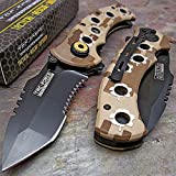 Tac-force Tactical Desert Camo Folding Pocket Knife NEW Review