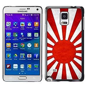 Paccase / SLIM PC / Aliminium Casa Carcasa Funda Case Cover - National Flag Nation Country Japanese Naval Ensign - Samsung Galaxy Note 4 SM-N910F SM-N910K SM-N910C SM-N910W8 SM-N910U SM-N910