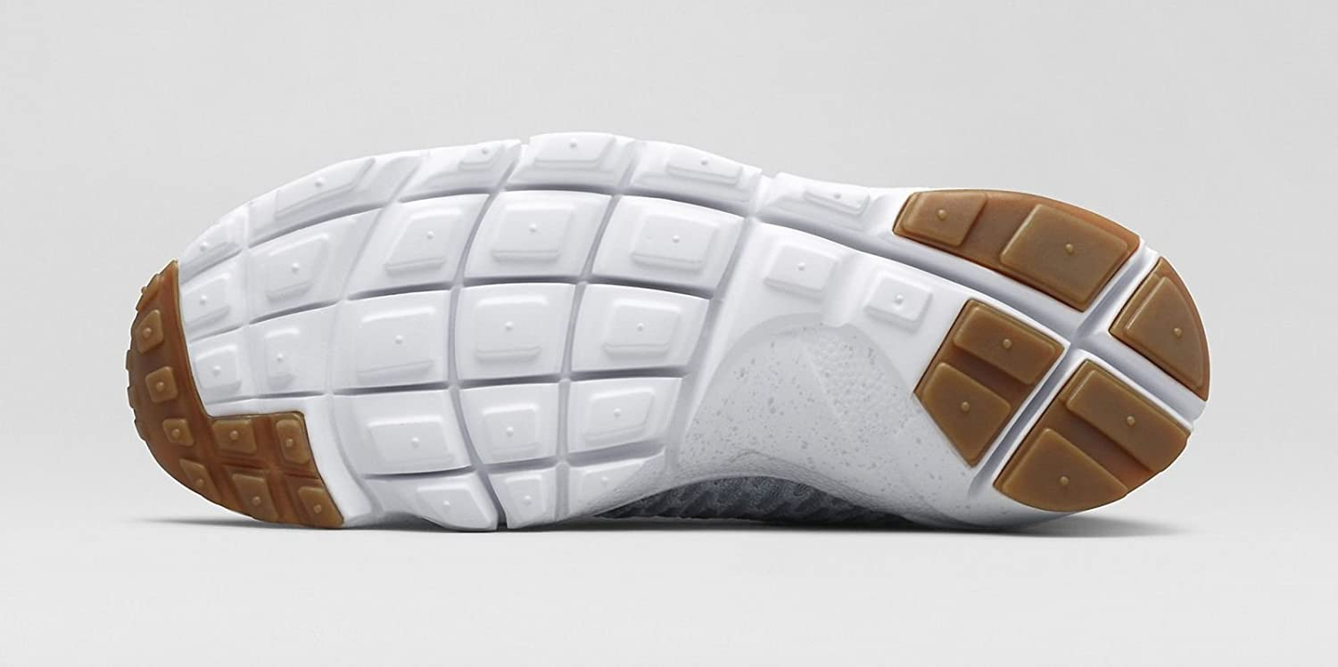 best service f9481 29f4a Amazon.com   NIKE Air Footscape Magista SP  Summit White  652960-008 Size  14 Grey   Basketball
