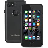 Merit iPhone7 防水ケース 全方位防水カバー改良版 防塵 耐衝撃 アイフォン防水ケース (黒い)