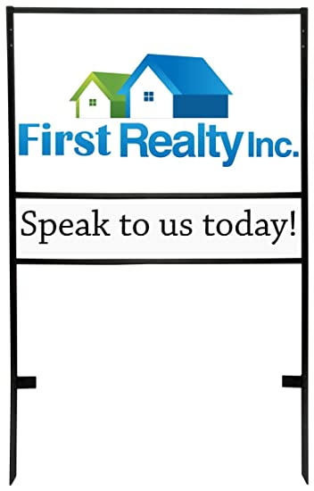 Amazon.com : Real Estate H Frame Yard Signs, 30x18 with 30x6 Lower ...