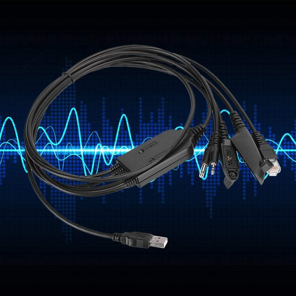 AMONIDA Programming Cable for FTDI 5 in 1Multi‑Function Durable Practical Line Radio USB Program Cable for CD Player Transmission