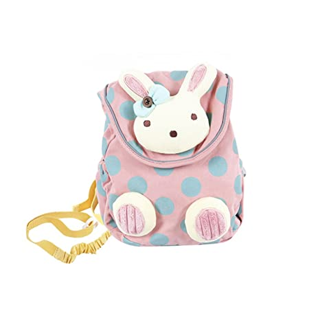Hessie Pink Toddler Backpack, Cute Stuffed Rabbit Bag for Girls over 1 Year  Old, 229b29a5a3