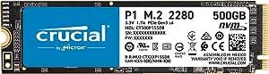 Crucial P1 500GB 3D NAND NVM PCIe M.2 SSD