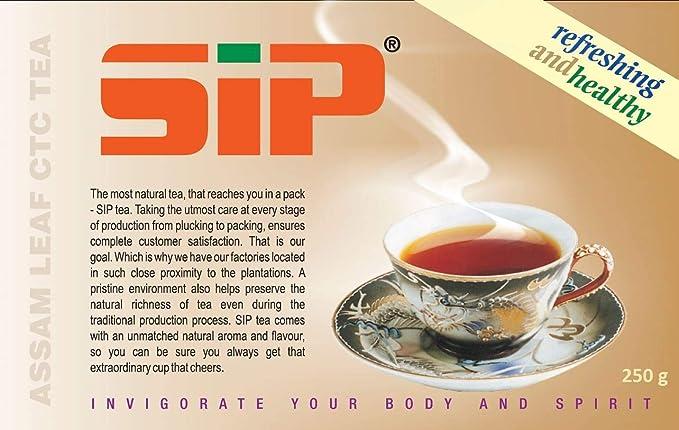 SIP Assam Leaf CTC Black Tea-250gms: Amazon in: Grocery & Gourmet Foods