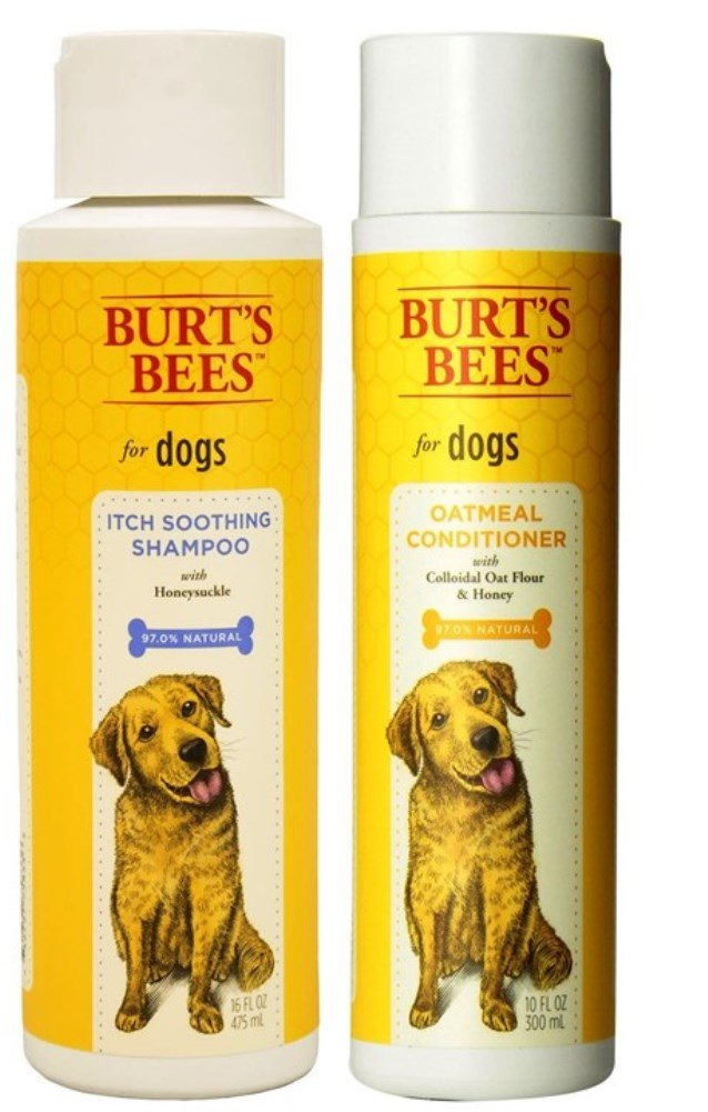 Burt's Bees For Dogs Itch Soothing Shampoo and Oatmeal Conditioner Bundle - (1) Each Fetch For Pets