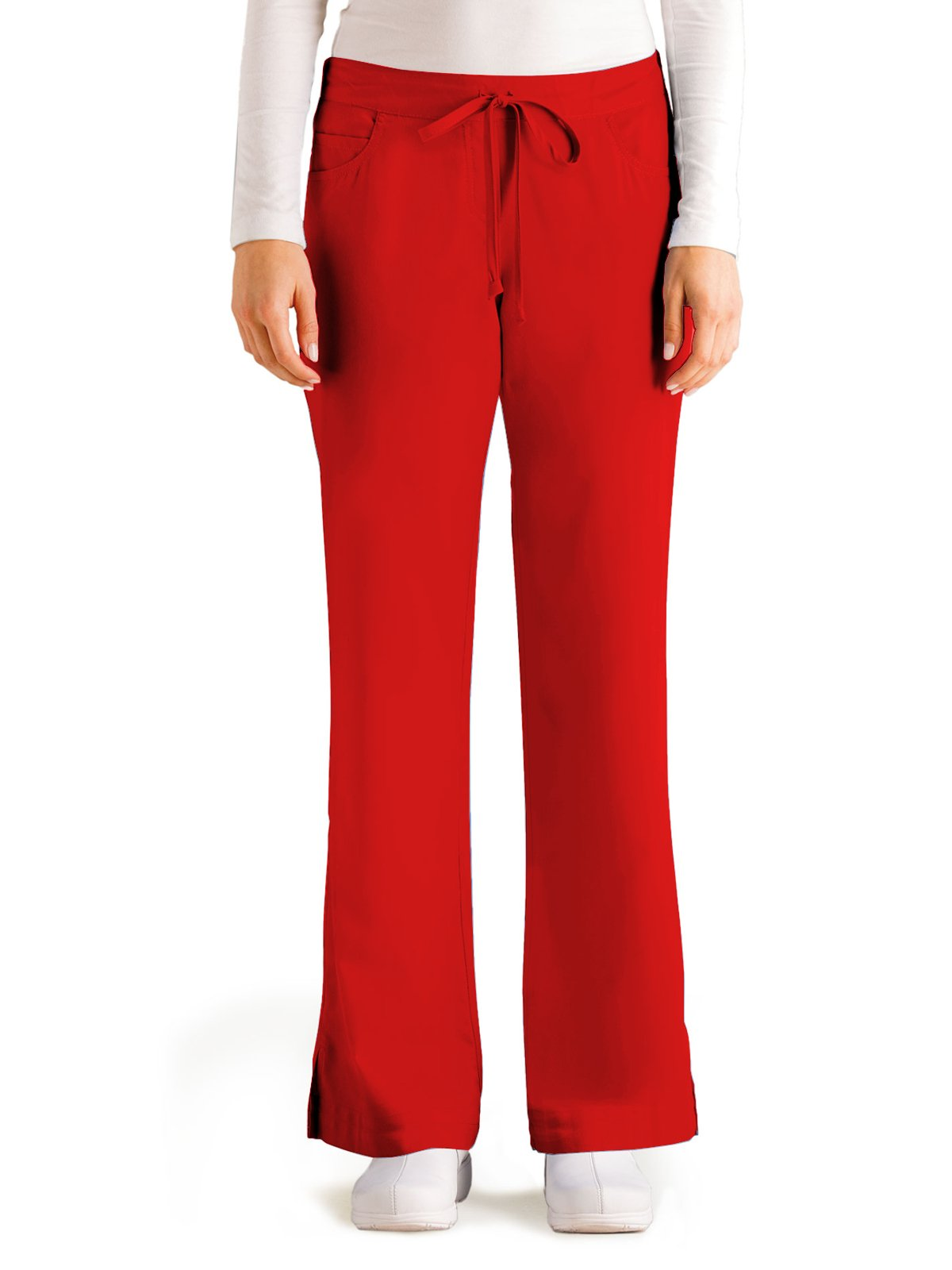 Grey's Anatomy 4232 Tie Front Pant Scarlet Red L