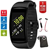 Beach Camera Samsung Gear Fit2 Pro Fitness Smartwatch - Black, Small (SM-R365NZKNXAR) + Fusion Bluetooth Headphones + Gear Black Jacket Case + 1 Year Extended Warranty