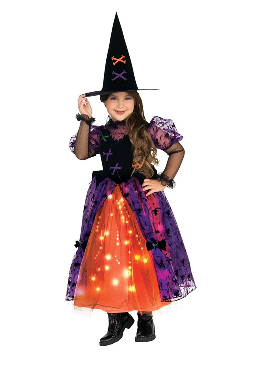 Pretty Witch Light Up Child Halloween Costume Size 4-6 Small ...