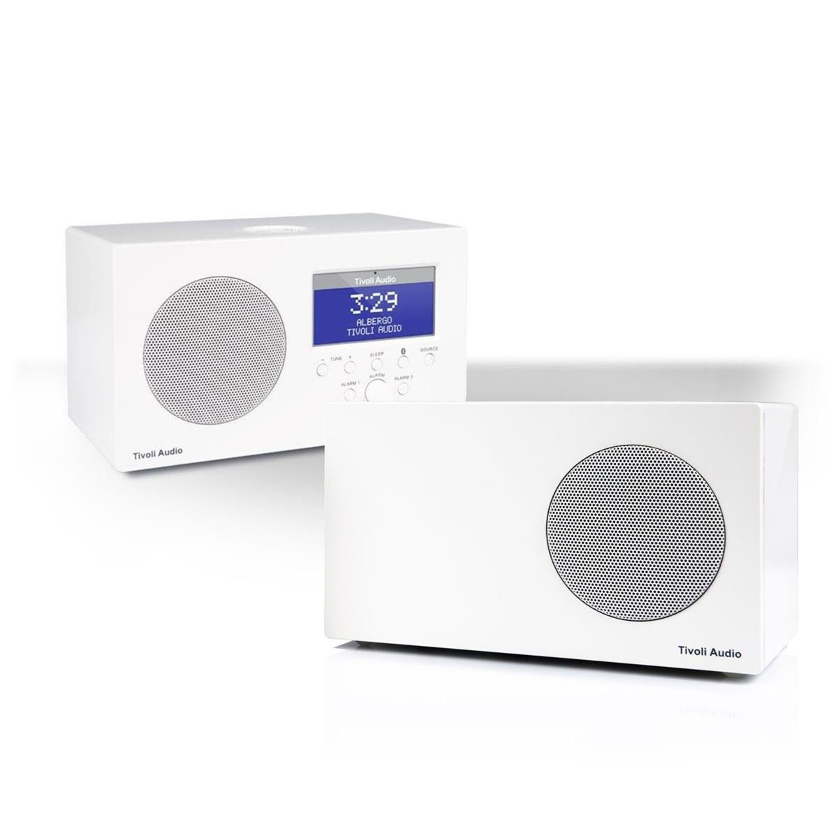Tivoli Audio Albergo Bluetooth Clock Radio Package with Albergo Stereo Speaker (White)