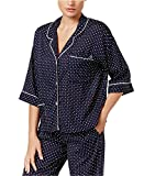 Tommy Hilfiger Women's Jet Setter Printed Pajama Top (Jet Setter Dot, Medium)