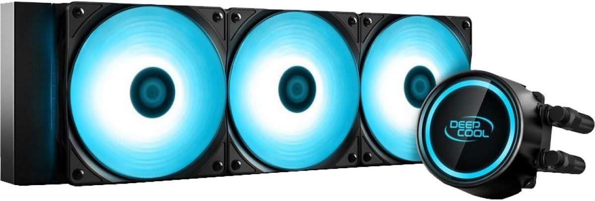 DeepCool Gammaxx L360 RGB V2 Sistema de refrigeración Anti-Leak Radiador de 360 mm Disipador de líquido RGB SYNC 12 V 4 pines compatible con Intel 115X/2066 y AMD AM4