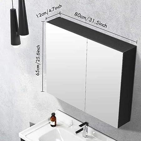 Vanity Mirrors Inteligente Gabinete de baño Espejo de iluminación Espejo de baño con Anti-Niebla y Tiempo Mostrar montado en la Pared compone el Espejo - rectángulo (Color : Type1-31.5