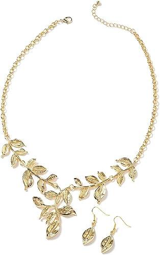 Exquisite Multi Rhinestone Necklace Chain Bib Bronze Necklace Pendant UK Seller