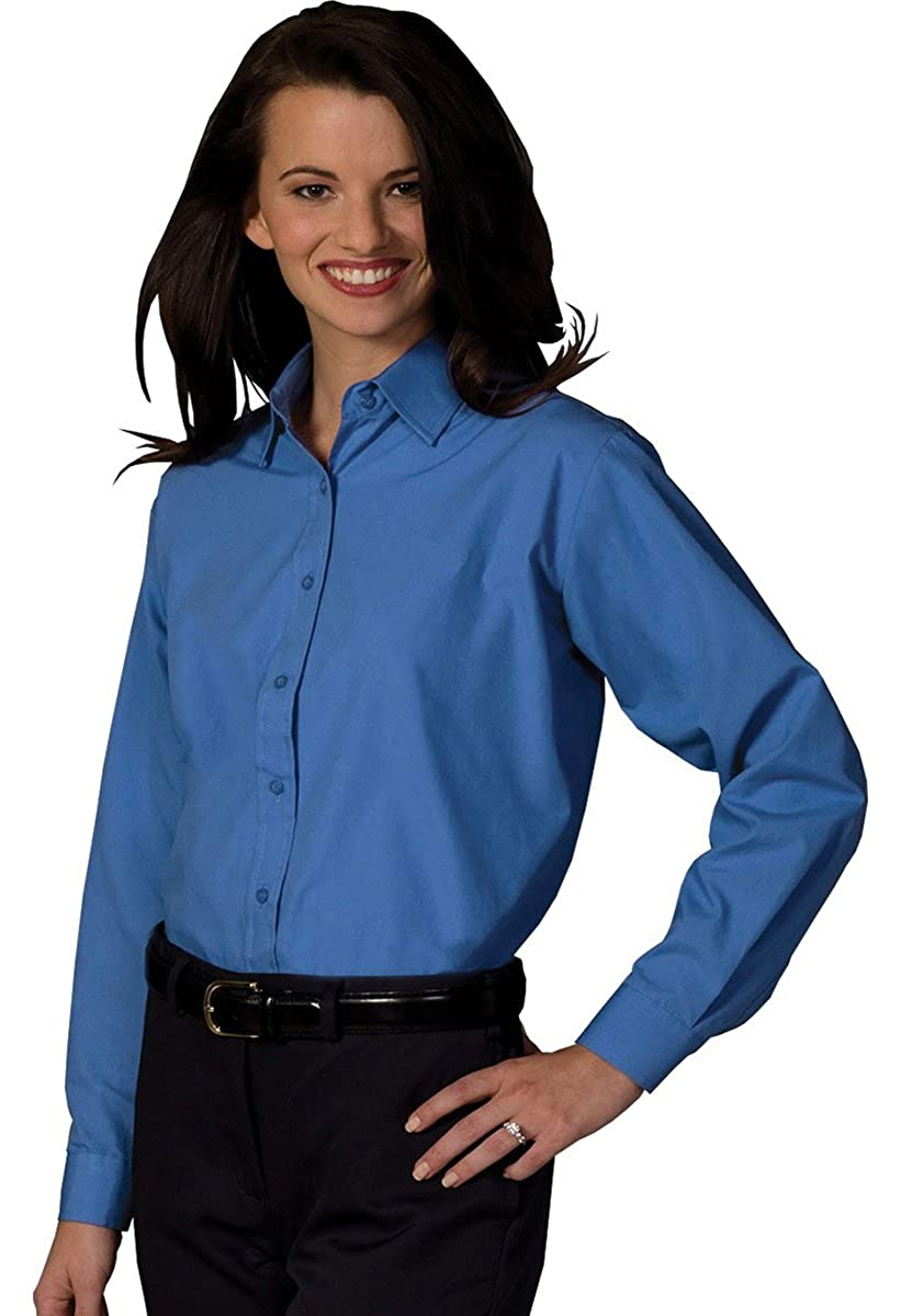 6bd994d2 Amazon.com: Ed Garments Women'S Long Sleeve Value Broadcloth Shirt-French  Blue-M: Clothing