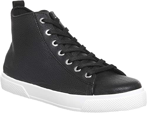 Office Freeze High Top Trainer Black