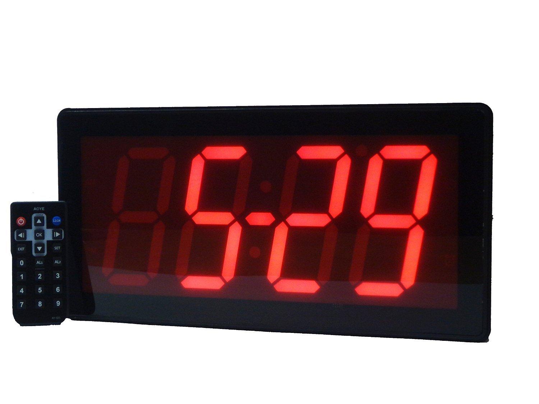 Grande Digital - Reloj de pared mejor reloj despertador con mando a distancia - 4