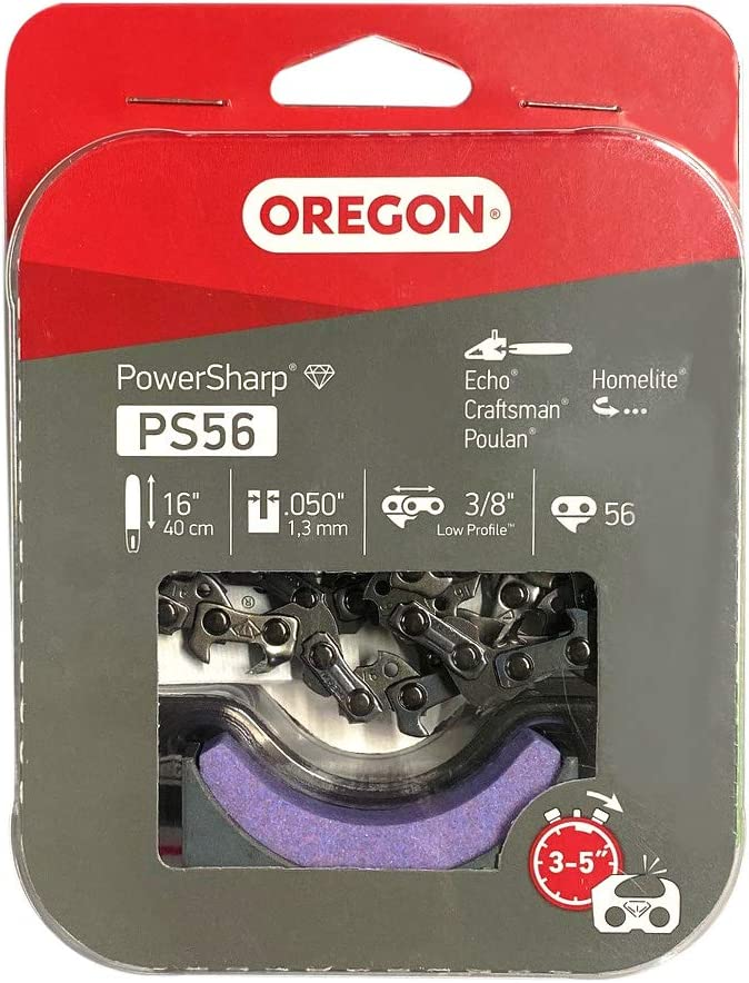 Amazon Com Oregon Ps56 Powersharp 16 Inch Chainsaw Chain For Craftsman Echo Homelite Poulan Remington Garden Outdoor