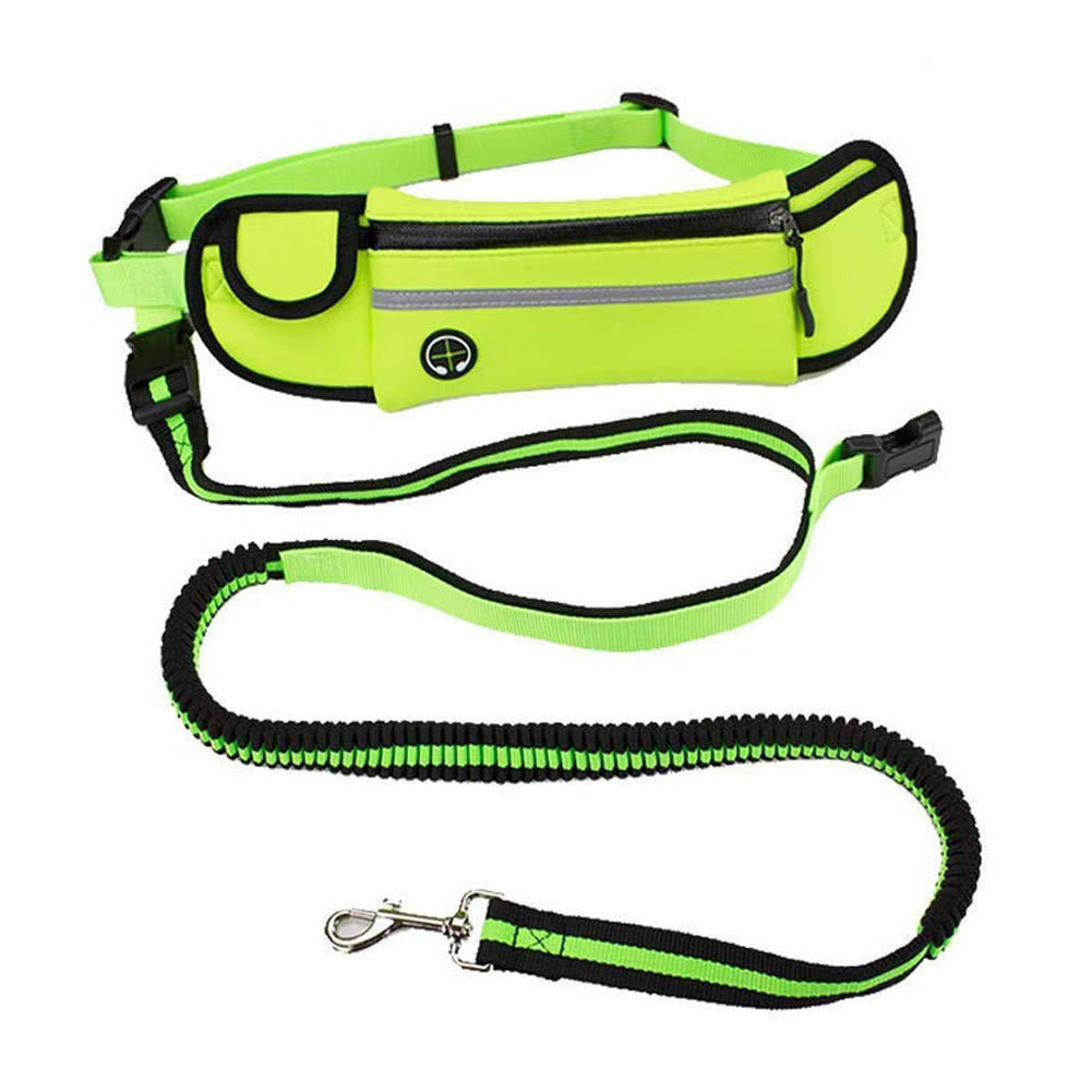 PINGTANG Hands Free Dog Leads, Retractable Dog Leash Waist Pouch, Adjustable Training Leash Belt for Dog Lovers Walking, Jogging and Running