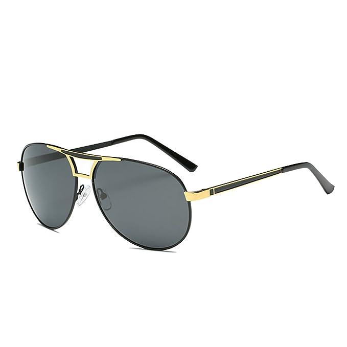 Kennifer Gafas de sol Polarizadas del Aviador de los Hombres de la Lente del Espejo de