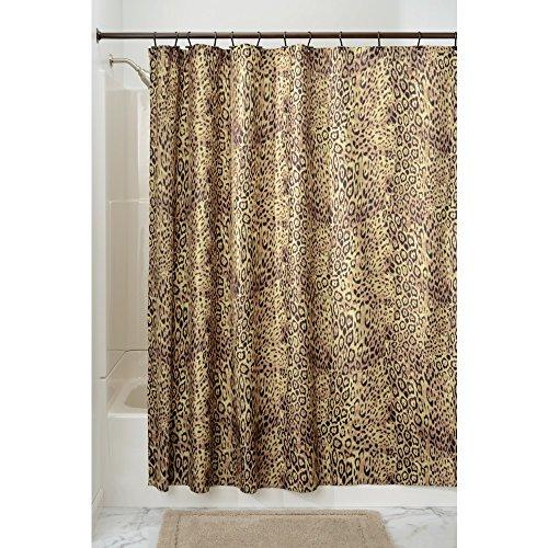 InterDesign Cheetah Fabric Shower Curtain - 72 inch by 72 inch (Cheetah Bathroom Curtains)