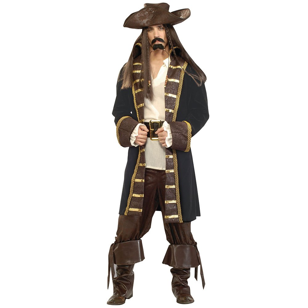 Bristol Novelty PIRATE HIGH SEAS. DELUXE QUALITY FANCY DRESS COSTUME