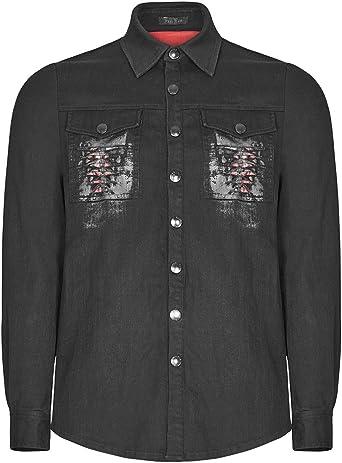 Punk Rave Top de Camisa de quilla gótica Steampunk para Hombre: Amazon.es: Ropa y accesorios