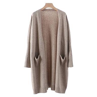 Zerlar Knit Cardigan Boyfriend Sweater Open Front Long Sleeve for ...