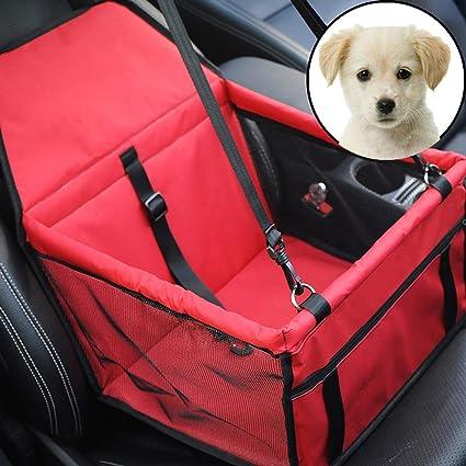 Haustier Auto Sitzkissen Tragbare Faltbare Booster Katze Und Hund Träger Atmungsaktiv Reise Kleiner Hund Multi Color Optional Red Auto