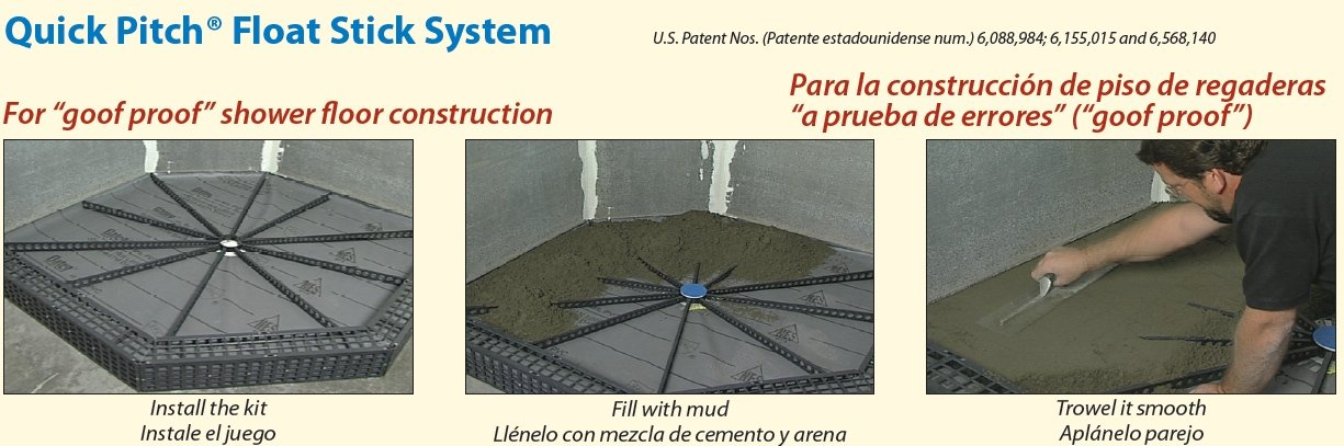 Goof Proof Standard Liner/Drain Shower Floor Kit   Shower Installation Kits    Amazon.com