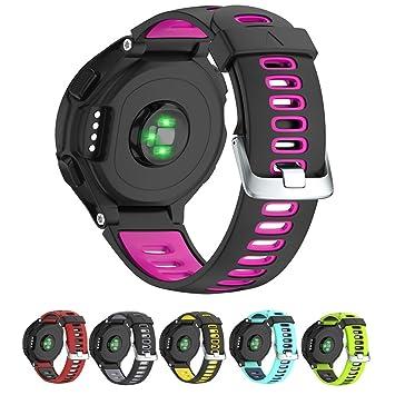 Correa de silicona de repuesto para reloj Garmin Forerunner 230/235/620/630/735XT para hombres y mujeres, de NotoCity: Amazon.es: Electrónica