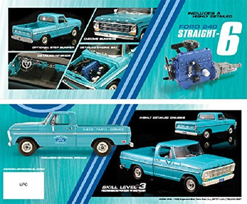 Moebius 1969 Ford F 100 Custom Cab Short Bed Plastic Model Truck Kit