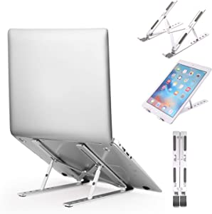 Laptop Stand,Shenboxun Adjustable Aluminum Laptop Computer Stand Tablet Stand,Ergonomic Foldable Portable Laptop Stand,Compatible with Mac MacBook Pro Air, Lenovo, HP, Dell,XPS Up to 15.6inch