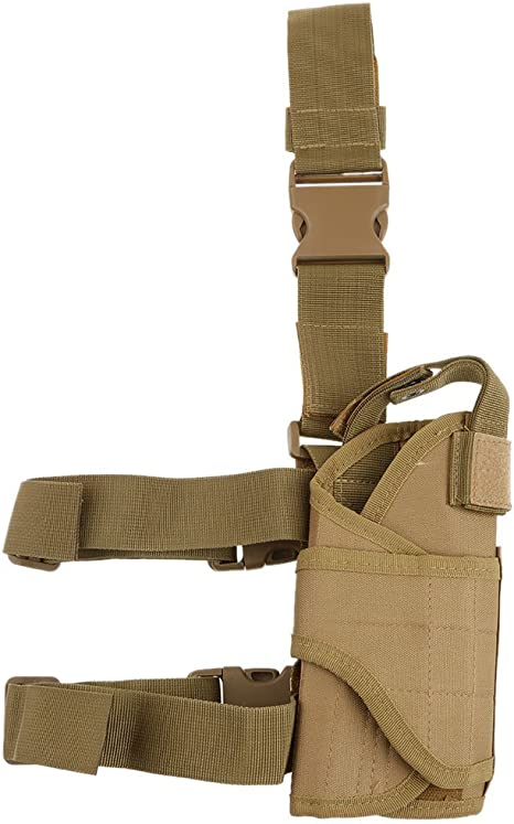 UK Adjustable Tactical Military Pistol Gun Drop Leg Thigh Holster Pouch Bag New