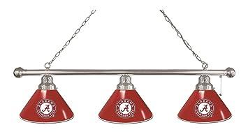 High Quality Alabama Crimson Tide HBS U0026quot;Au0026quot; Chrome Red 3 Bulb Hanging Pool  Billiard Table