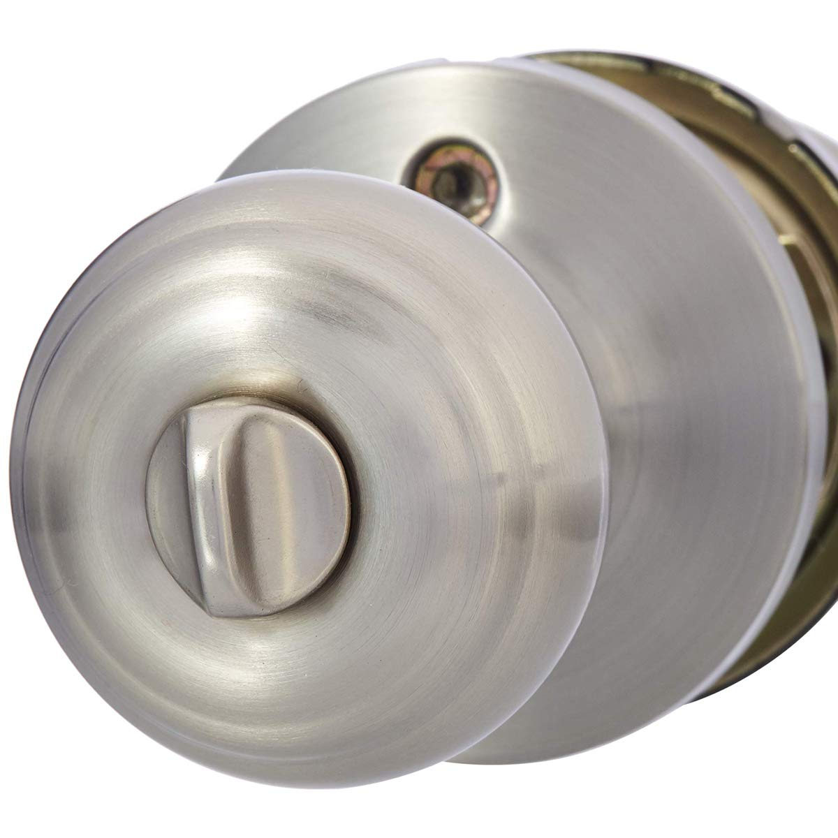 Basics Entry Knob and Deadbolt Polished Brass Classic 2-Pack