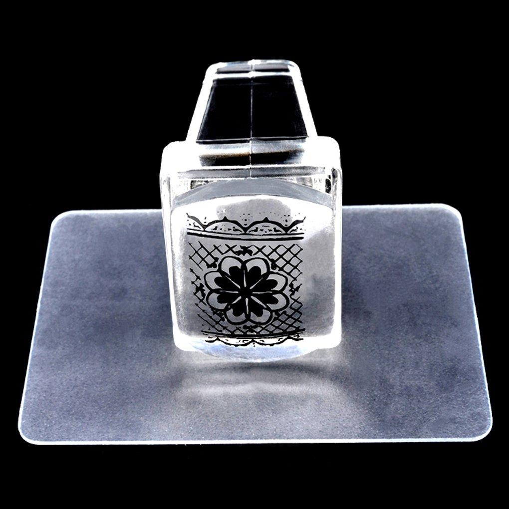 Sets Suave Transparente de u/ñas de Silicona Cabeza Jalea del Claro Arte Stamper Fangfeen Nueva manicura polaca Estampa Las Herramientas de 2pcs raspador
