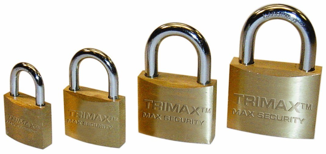 Trimax TPB1125 Marine Grade Locking Solid Brass Body with Hardened 1-1//8 x 5//16 Shackle