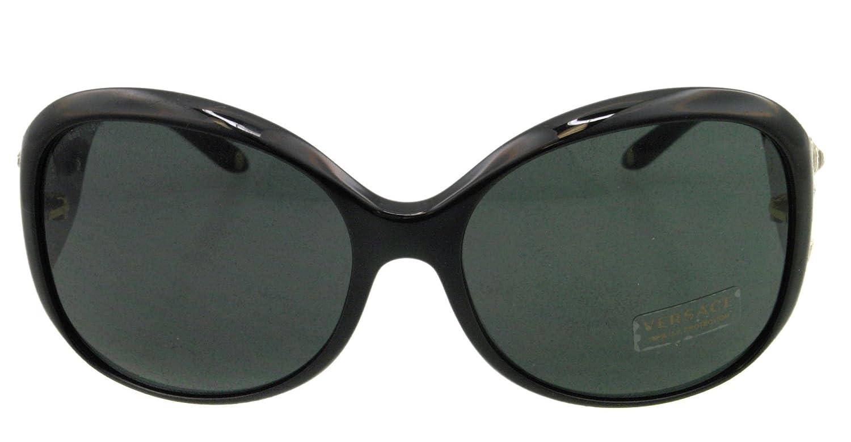 27032981c70 Amazon.com  Versace Sunglasses VE 4244 B GB1-87 Acetate - Rhinestones Black Gold   Versace  Sports   Outdoors