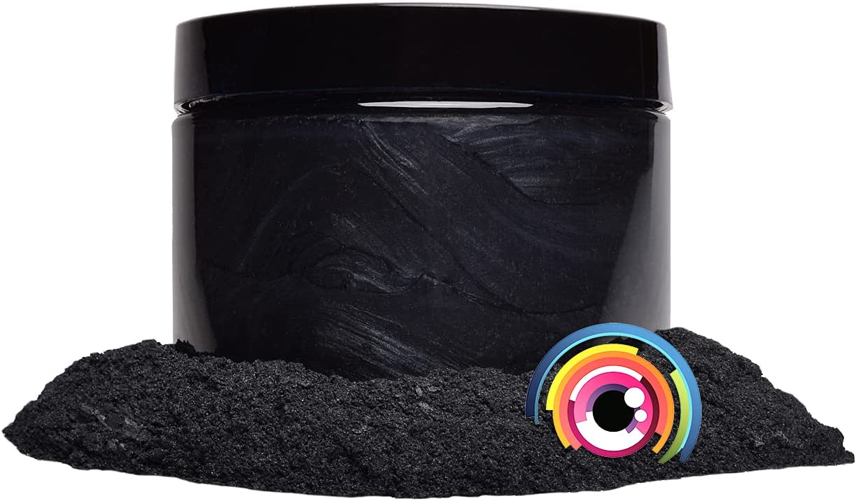 "Eye Candy Mica Powder Pigment ""Yoru Black"" (50g) Multipurpose DIY Arts and Crafts Additive | Woodworking, Epoxy, Resin, Natural Bath Bombs, Paint, Soap, Nail Polish, Lip Balm (Yoru Black, 50G)"