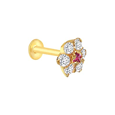Buy Vandana Jewellery Stud Gold Plated Nose Pin For Women Yellow