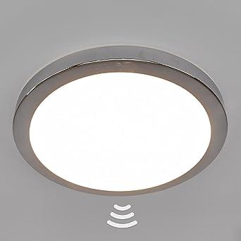 Mouvement Plastique De Led Plafonnier Aras Détecteur Chromé Lampe FJ3cu1TlK5