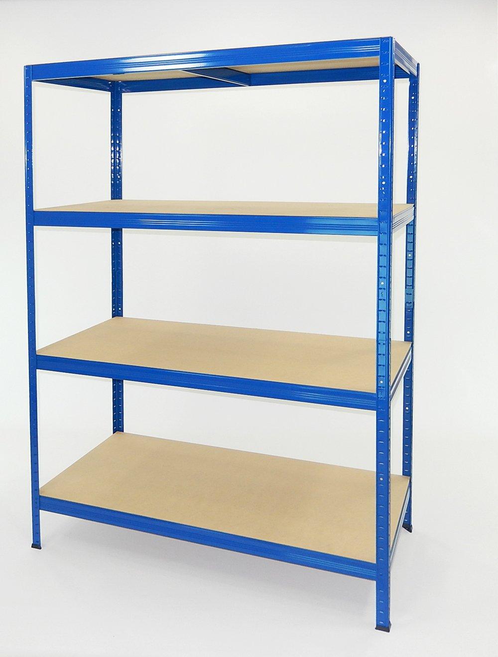 Futtal É tagè re mé tallique de 180 x 120 x 60 cm avec 4 niveaux Bleu trè s intense, bleu Kovona