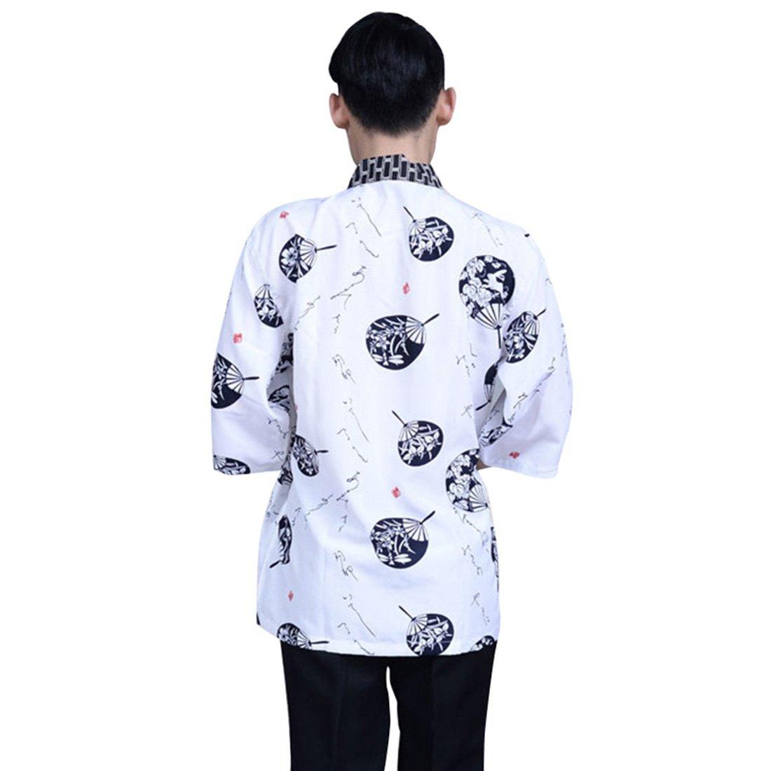 Amazon.com: Enerhu Japanese Chef Coat Sushi Chef Jacket ...