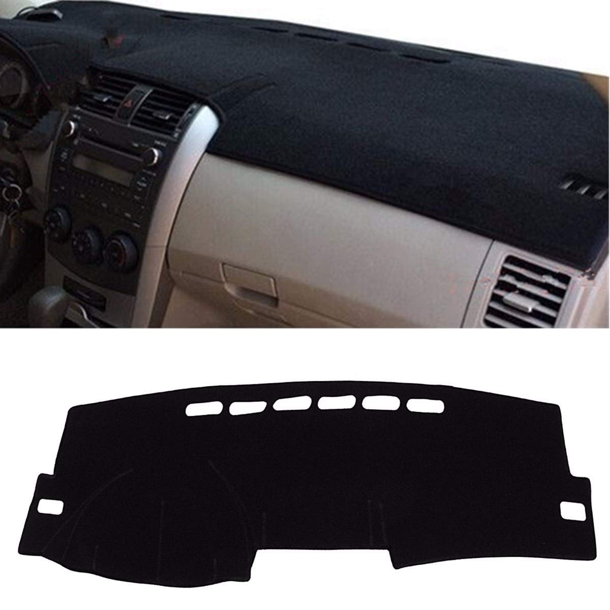 CALAP-STORE - Black 135 x 20 cm Inner Dashboard Dash Mat DashMat Sun Cover Pad for Toyota/Corolla 2007-2013