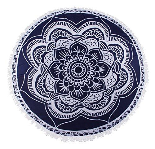 Angerella Atractivo de las mujeres Ver-Por la ropa de playa de la gasa de encubrimientos kimono Cardigan Navy(Floral)